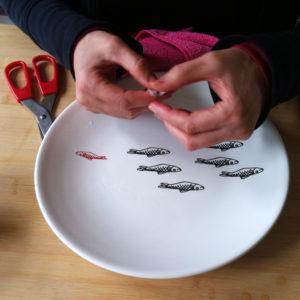 keramische transfers leren zeefdrukken