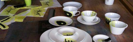keramische transfers zeefdrukken voor op porselein