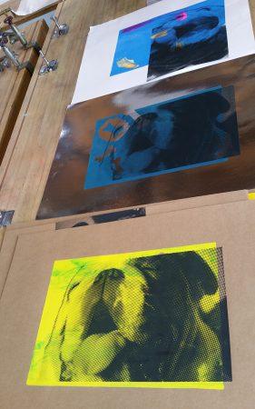Gerda hond foto zeefdrukken